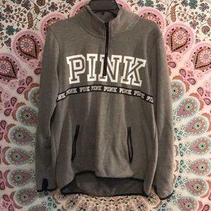 Victoria's Secret PINK Gray Zipper Sweatshirt